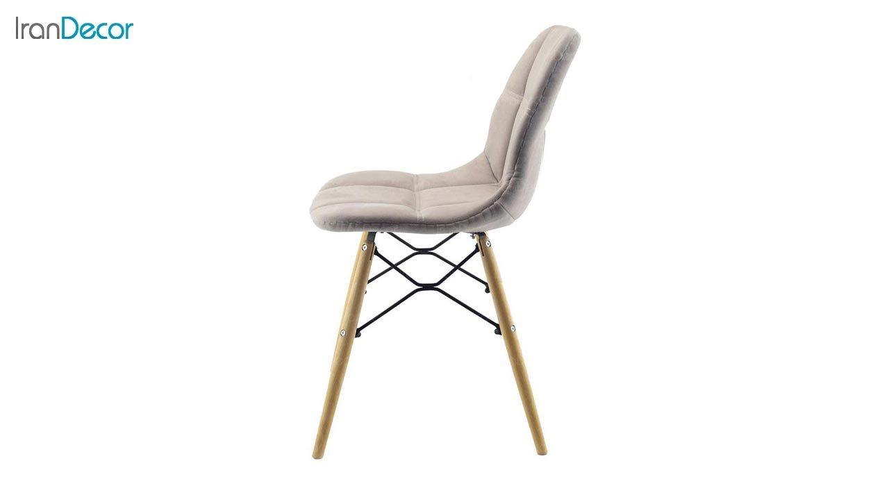 تصویر صندلی پایه ایفلی چوبی بنیزان مدل کندو کد K500P