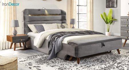عکس تخت خواب پارس چوب مدل هیلدا