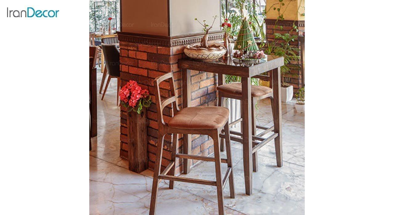 عکس صندلی اپن چوبی جهانتاب مدل ایویا کد 3251
