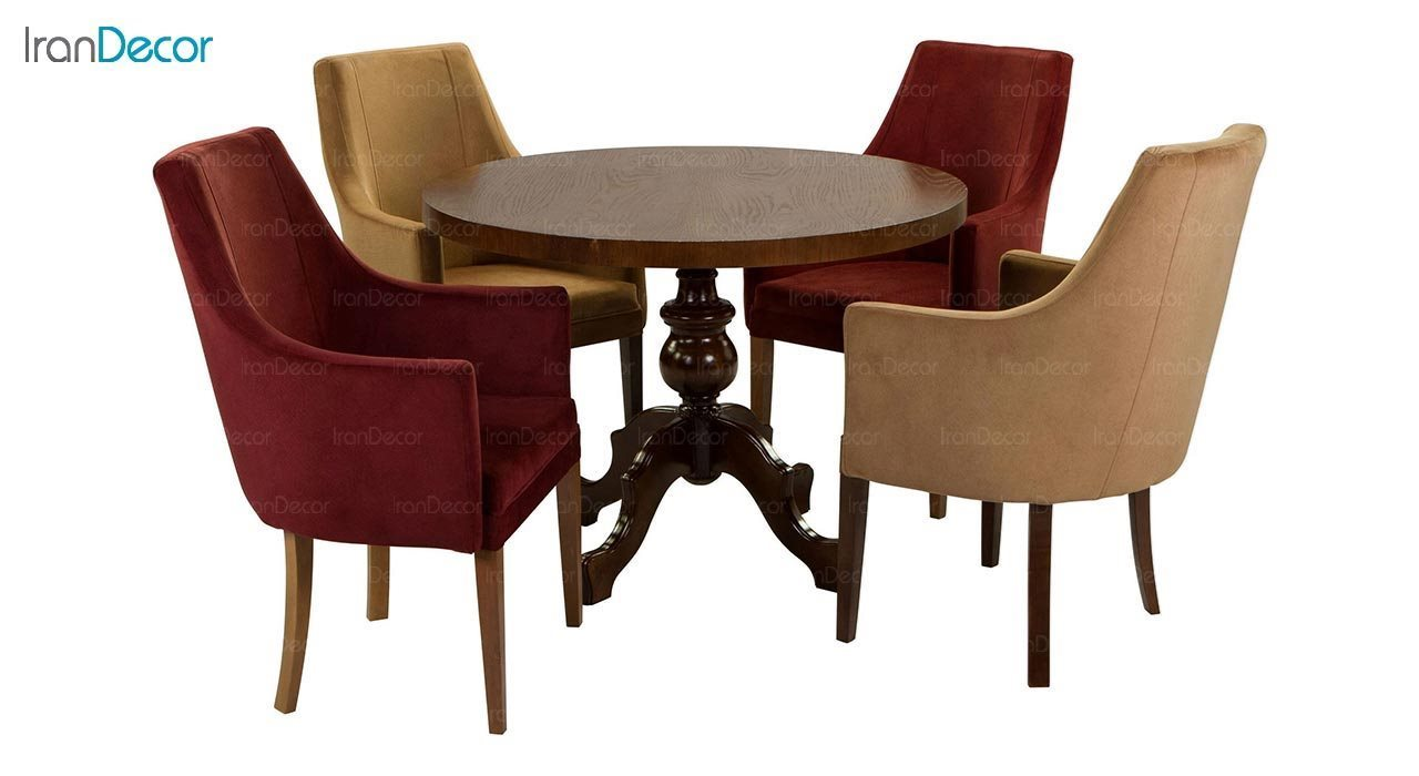 عکس صندلی دسته دار جهانتاب مدل کارول کد 1221