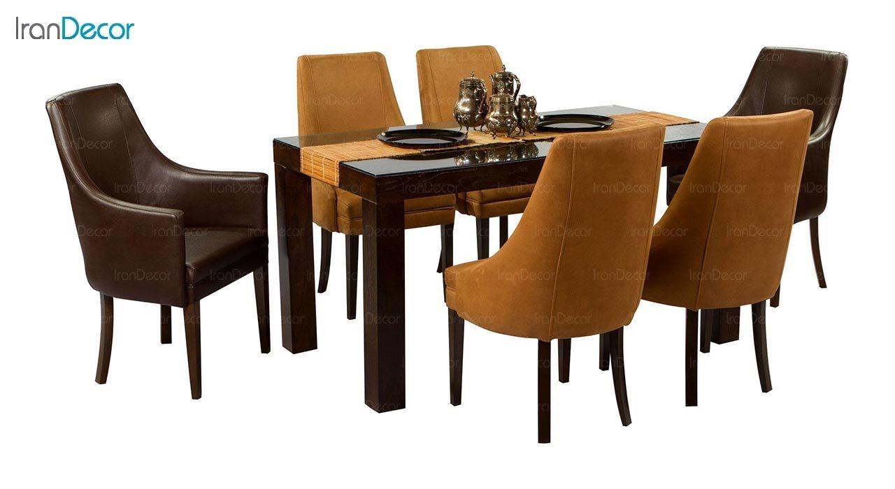 تصویر صندلی دسته دار جهانتاب مدل کارول کد 1221