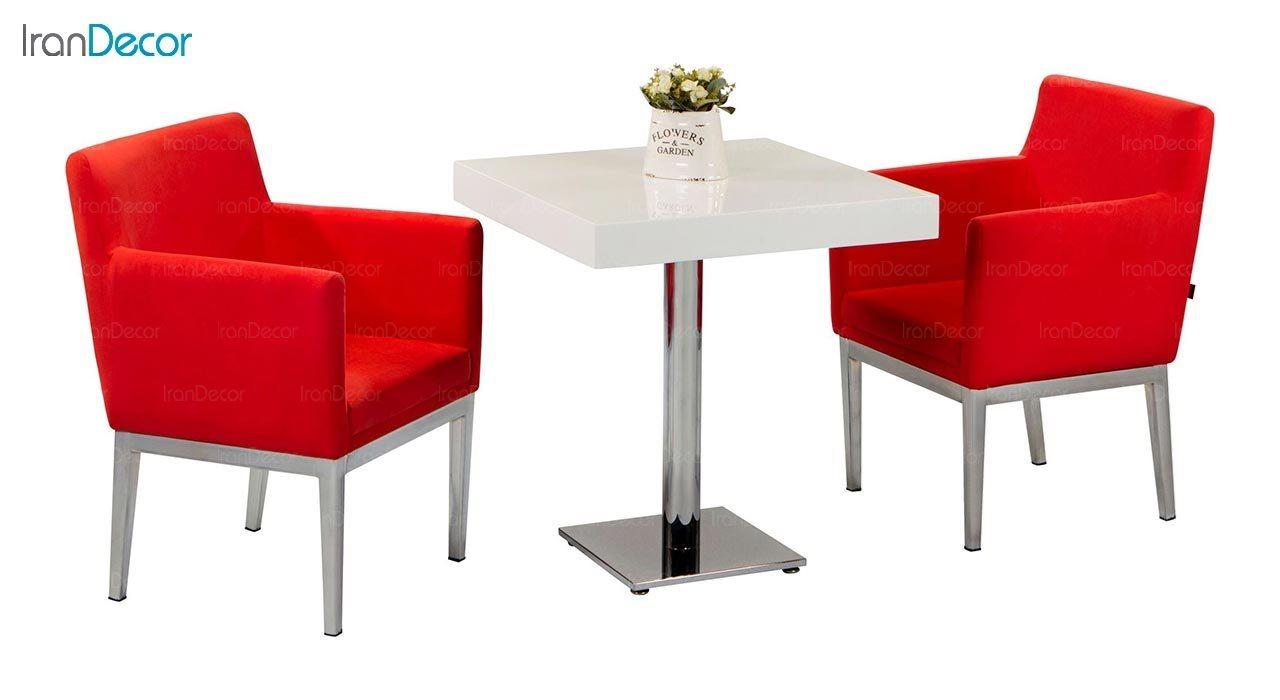 تصویر صندلی پایه فلزی جهانتاب مدل پارکر کد 1241
