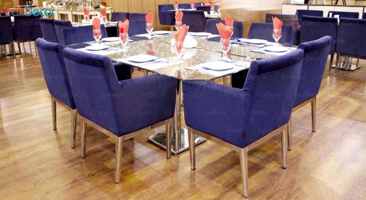 عکس صندلی پایه فلزی جهانتاب مدل پارکر کد 1241