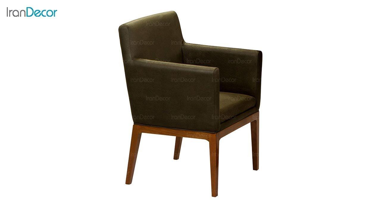تصویر صندلی دسته دار پایه چوبی جهانتاب مدل پارکر کد 1231