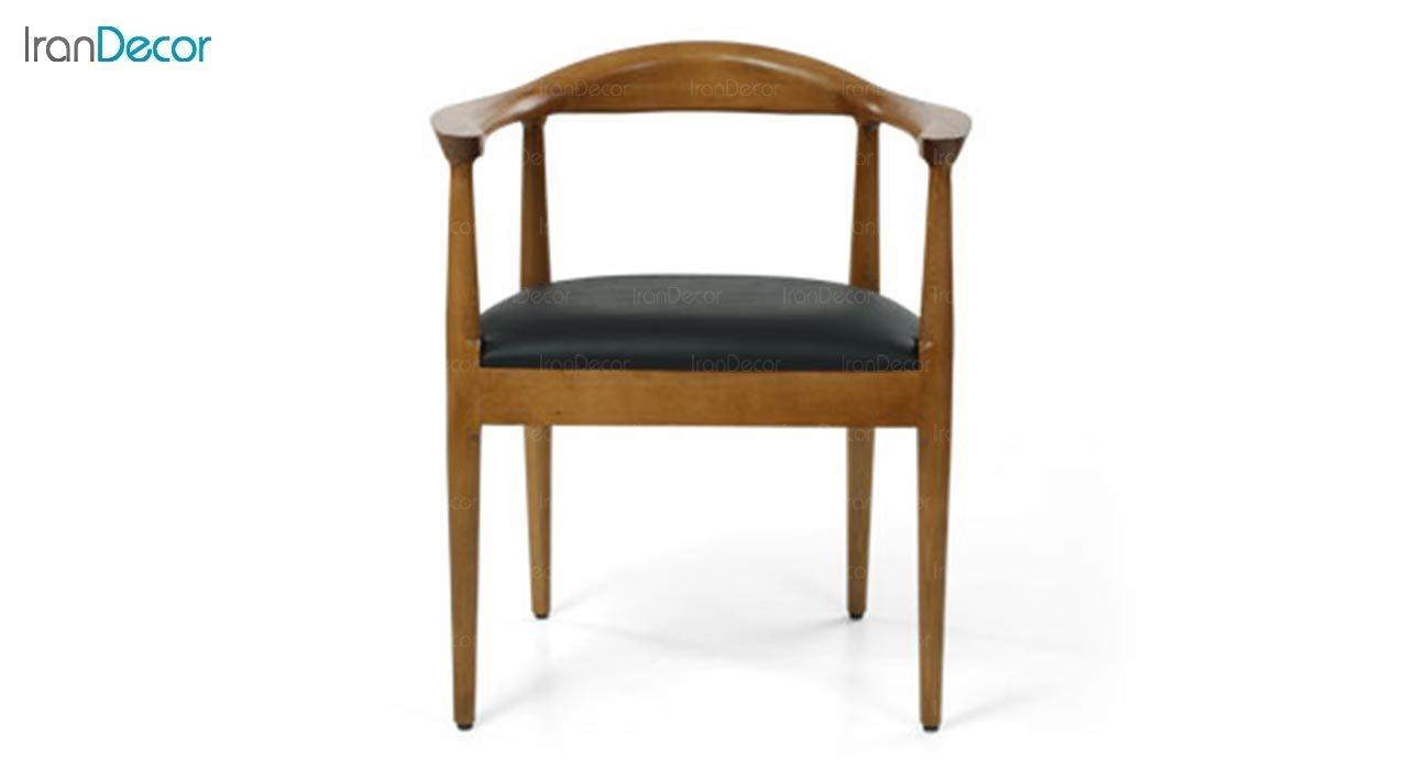 عکس صندلی دسته دار چوبی جهانتاب مدل ریتا