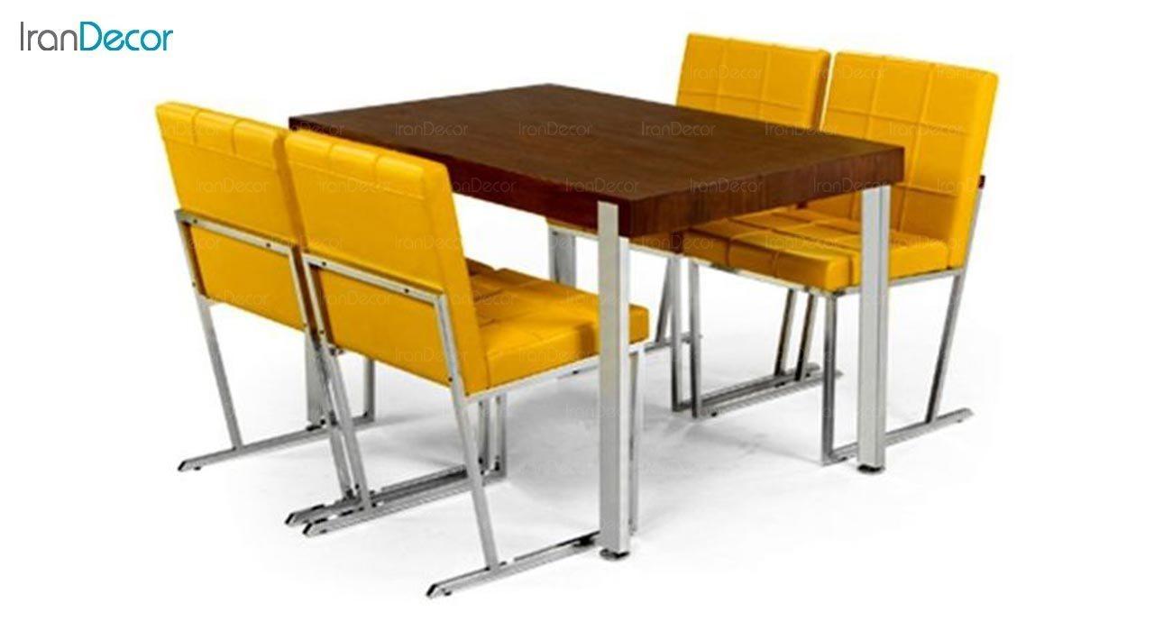 عکس صندلی پایه فلزی جهانتاب مدل ویونا کد 1391
