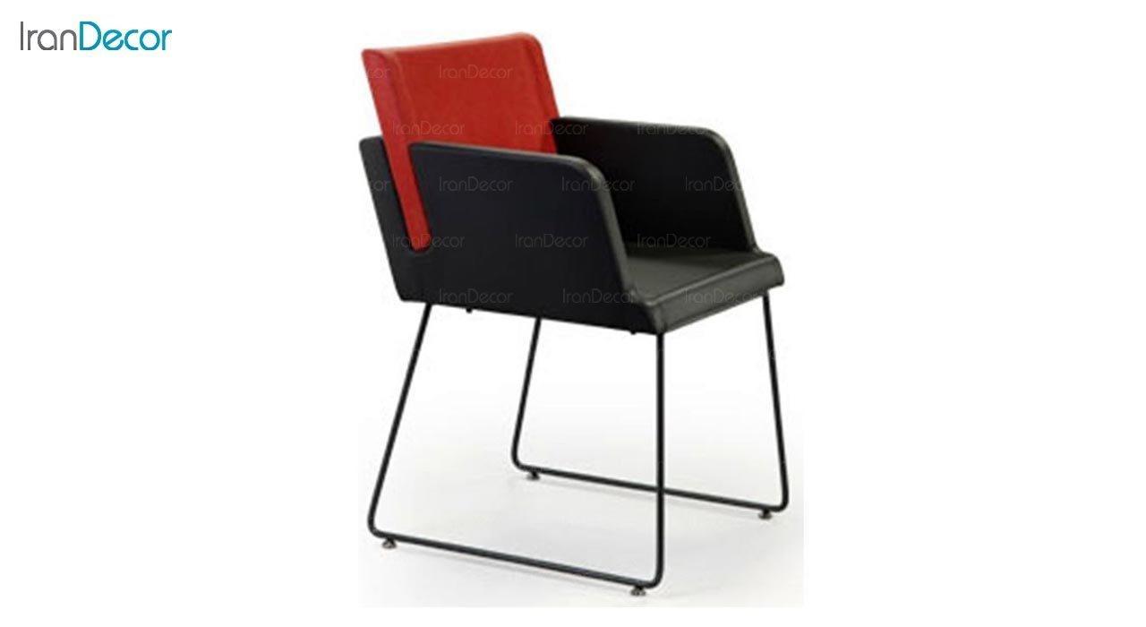 عکس صندلی دسته دار پایه فلزی جهانتاب مدل پنتون کد 1701