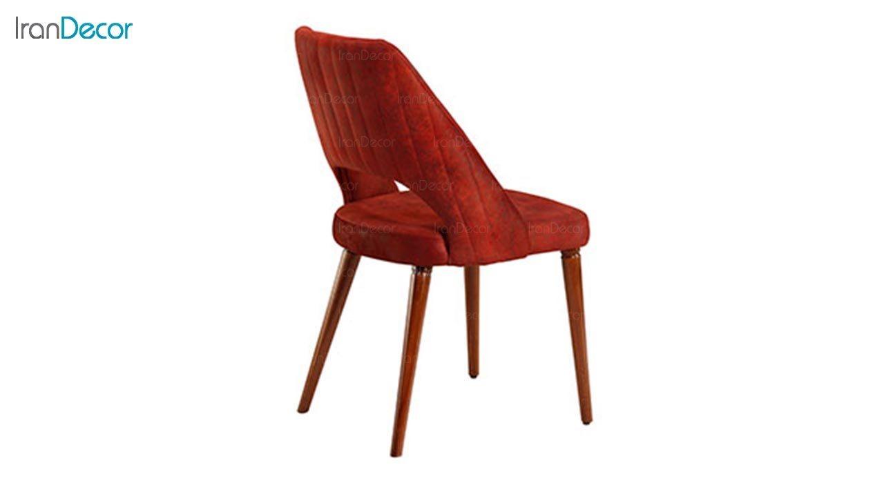 تصویر صندلی پایه چوبی جهانتاب مدل ژاکلین