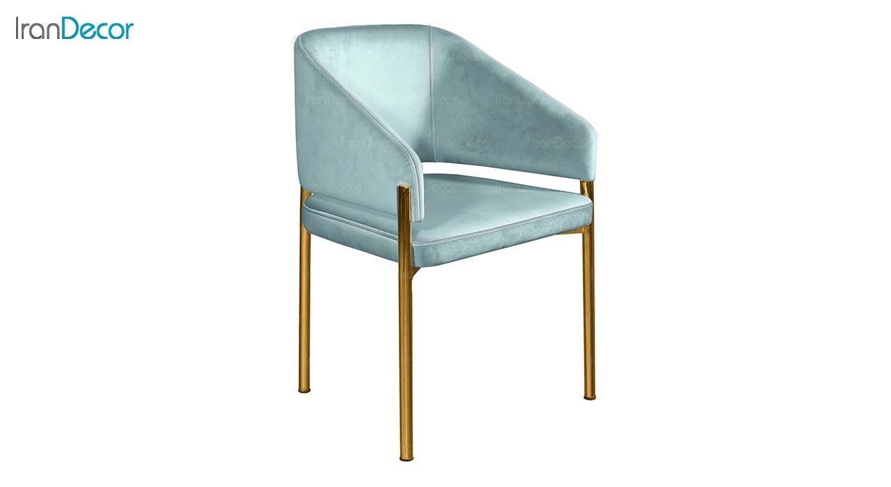 تصویر صندلی دسته دار پایه فلزی جهانتاب مدل سانس کد 4522 با پایه آبکاری