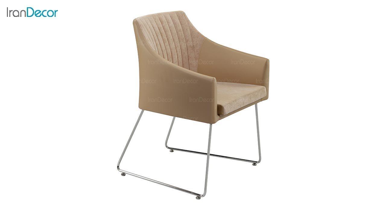 تصویر صندلی دسته دار پایه فلزی جهانتاب مدل اکسیس با پشتی طرح دوخت