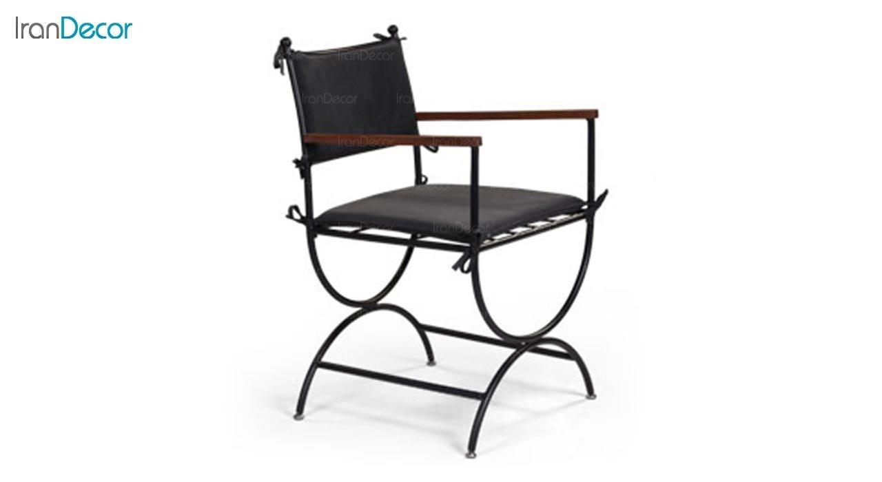 تصویر صندلی دسته دار فلزی جهانتاب مدل آکاچیا کد 1953