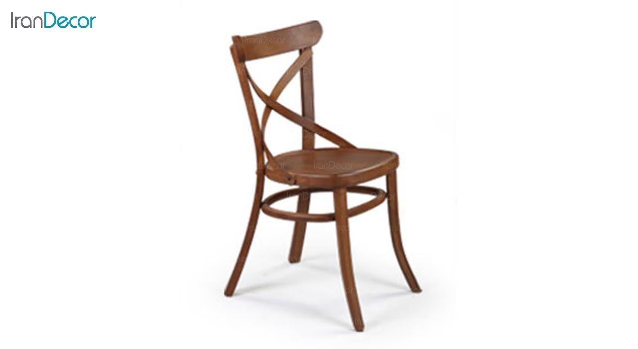 تصویر صندلی چوبی جهانتاب مدل لهستان ضربدری کد 1611