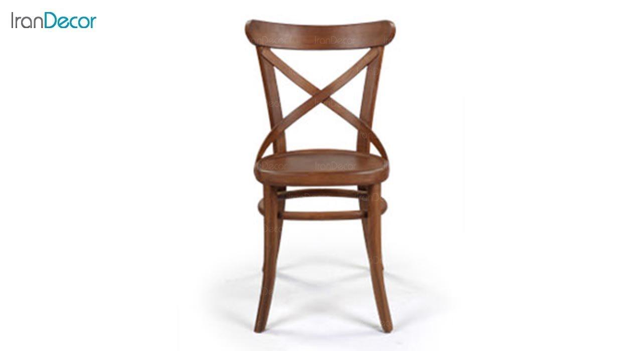 عکس صندلی چوبی جهانتاب مدل لهستانی ضربدری کد 1611