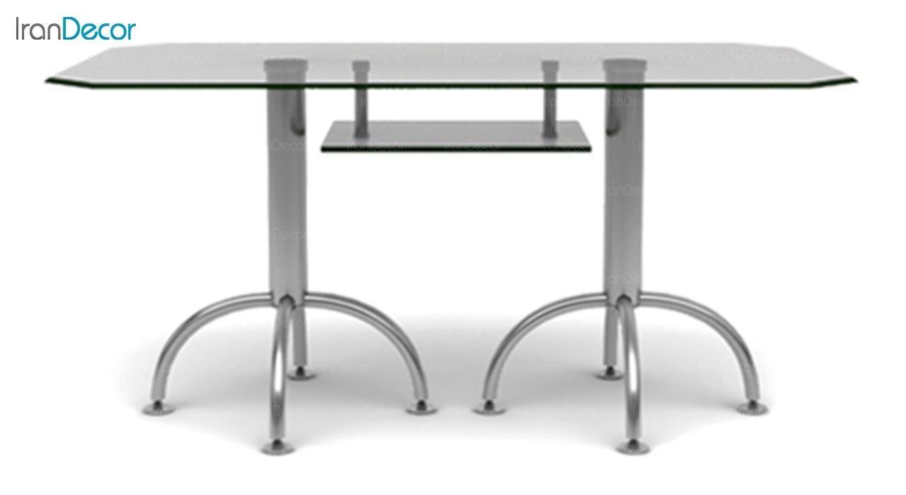 تصویر میز مستطیل پایه فلزی جهانتاب مدل 1034G کد 4251