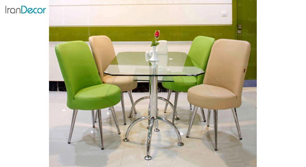عکس میز مستطیل پایه فلزی جهانتاب مدل 1034G کد 4251