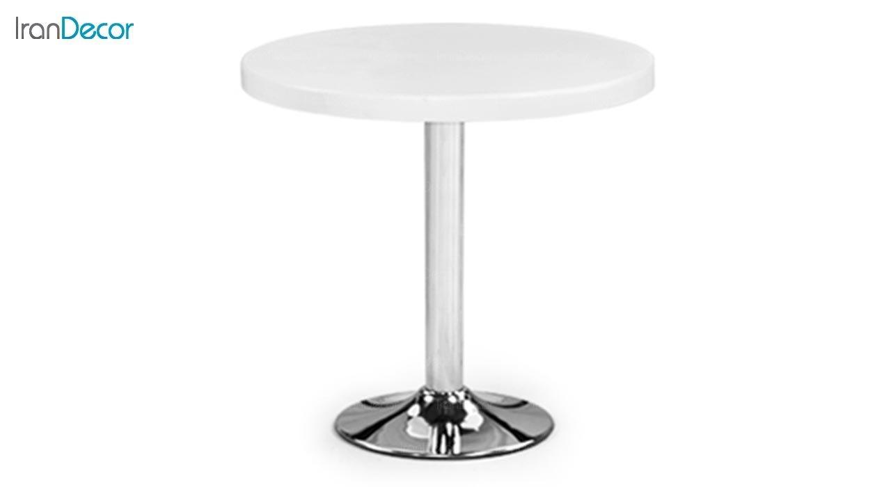 تصویر میز گرد پایه فلزی جهانتاب مدل 1026 کد 4261