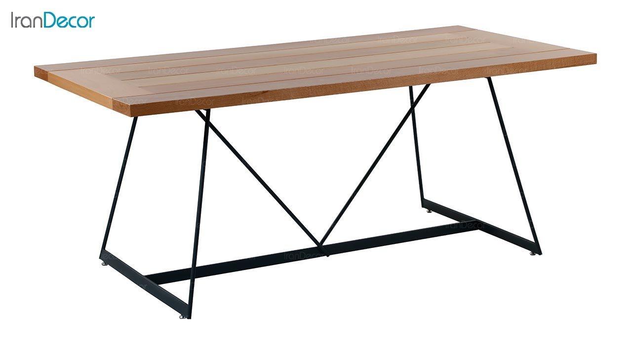 تصویر میز مستطیل پایه فلزی جهانتاب مدل ریتا