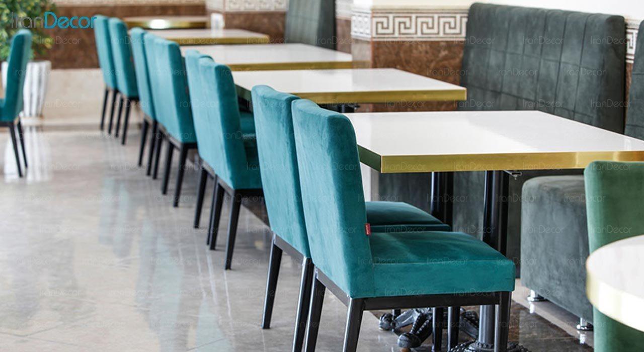 تصویر میز مستطیل پایه فلزی جهانتاب مدل S6 کد 4311