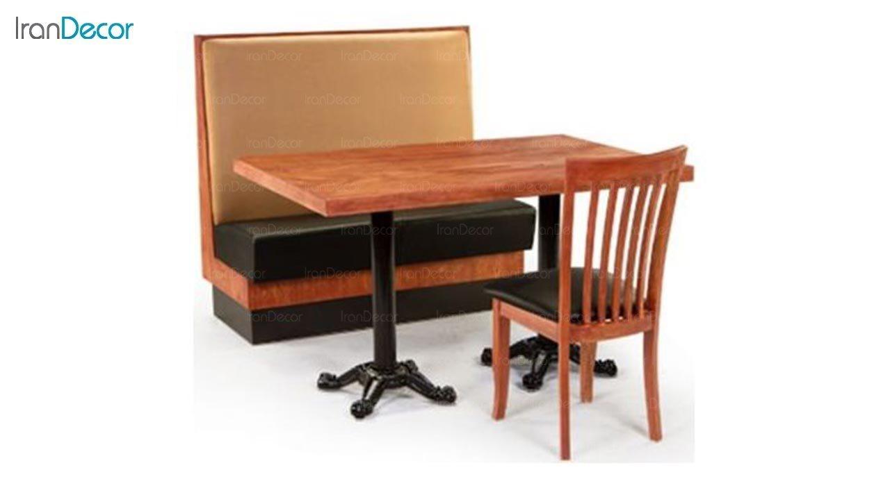 عکس میز مستطیل پایه فلزی جهانتاب مدل S6 کد 4311
