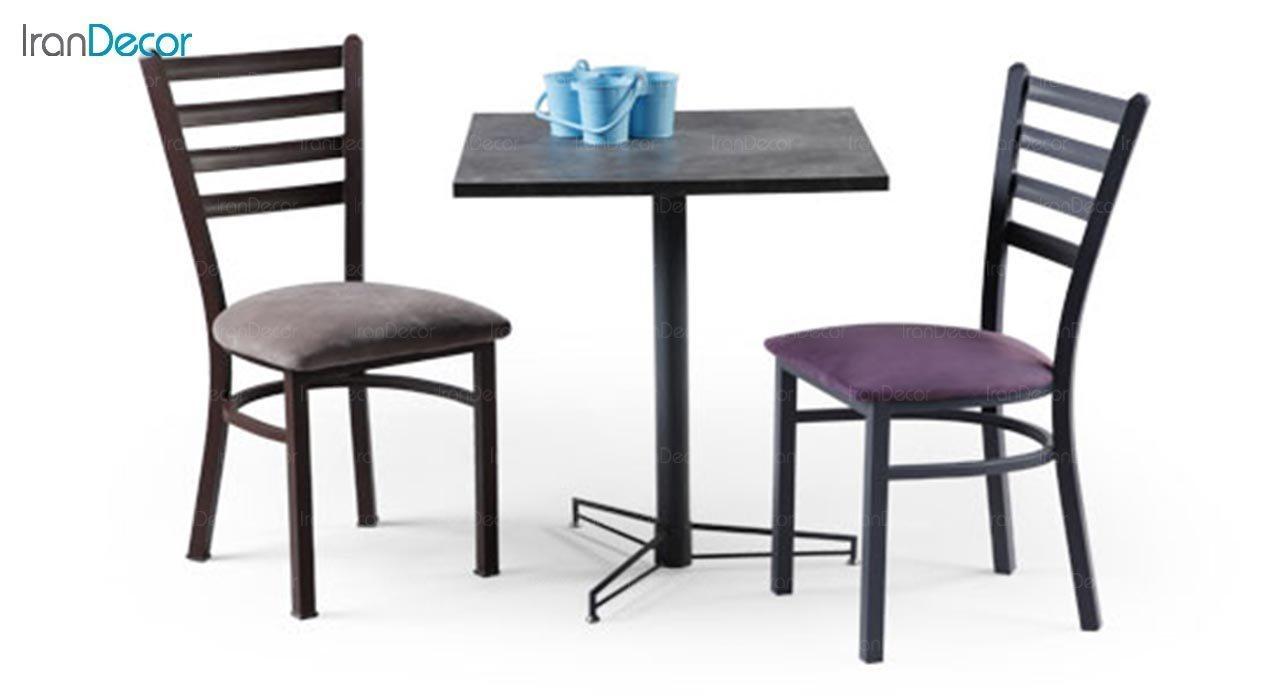عکس میز مربع پایه فلزی جهانتاب مدل 1023