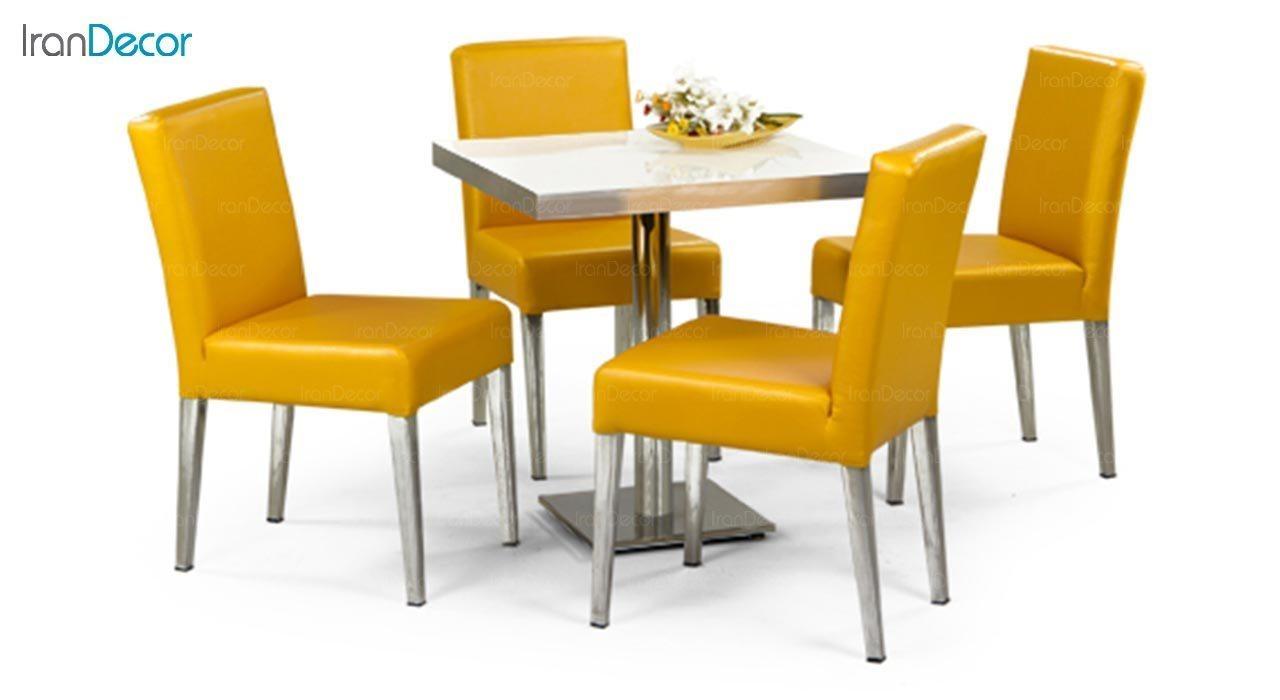 عکس میز مربع پایه فلزی جهانتاب مدل 1027 کد 4331