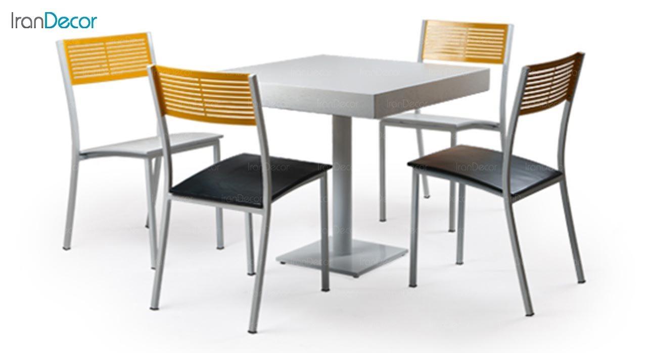 تصویر میز مربع پایه فلزی جهانتاب مدل 1027 کد 4331