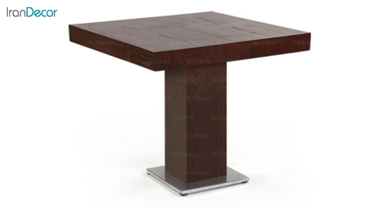تصویر میز مربع پایه فلزی جهانتاب مدل 1027W کد 4371