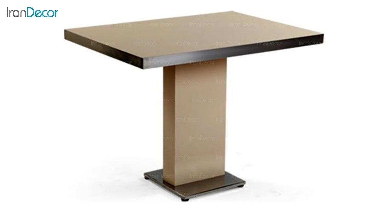 تصویر میز مستطیل پایه فلزی جهانتاب مدل 1027WT کد 4361