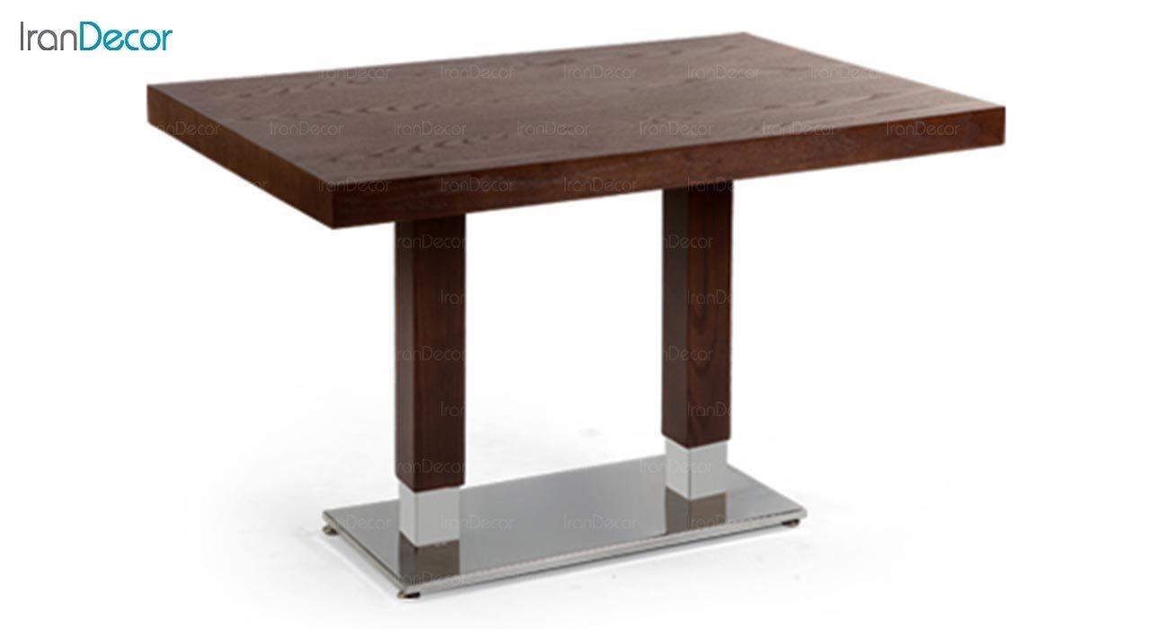 تصویر میز مستطیل پایه فلزی جهانتاب مدل 1037S کد 4411