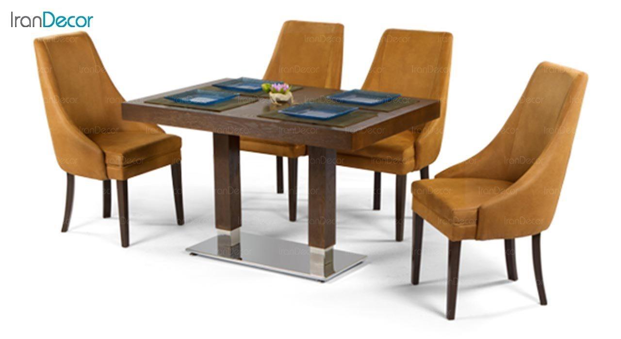 عکس میز مستطیل پایه فلزی جهانتاب مدل 1037S کد 4411