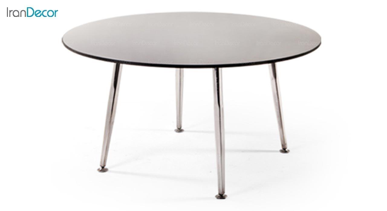 تصویر میز گرد پایه فلزی جهانتاب مدل 1043 کد 4441