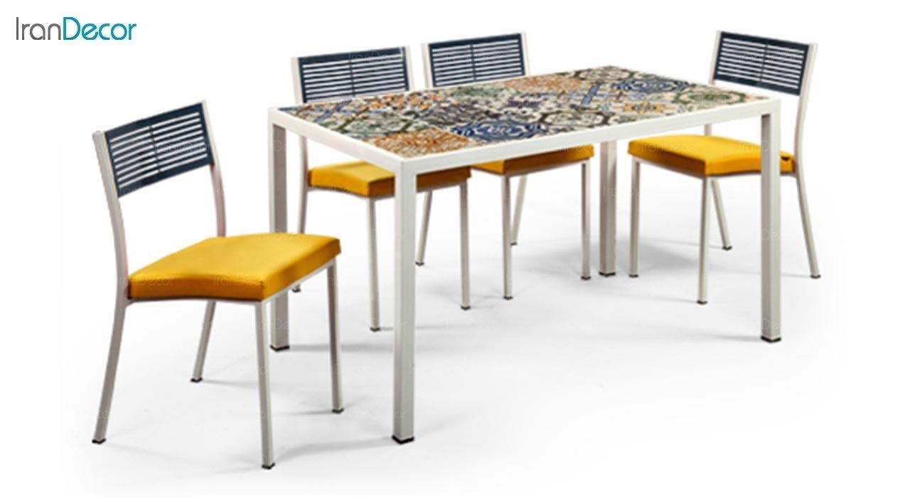 تصویر میز پایه فلزی جهانتاب مدل آدریا کد 4461