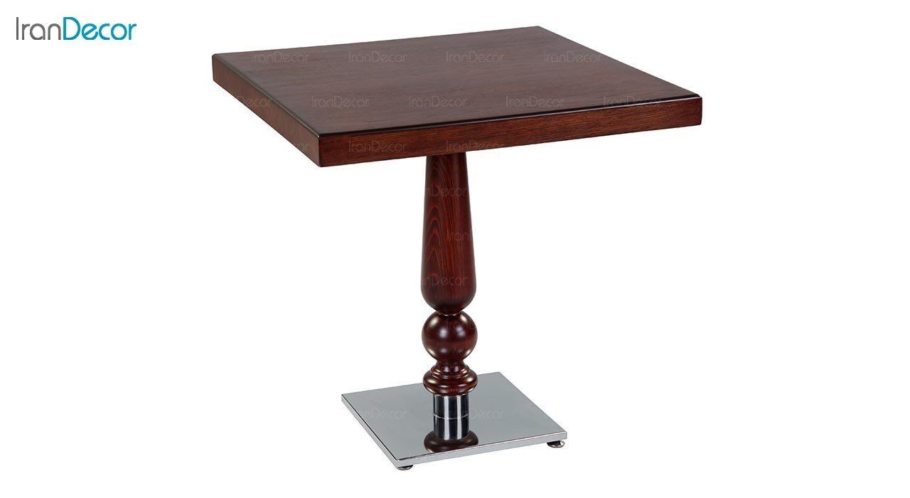 تصویر میز مربع چوبی جهانتاب مدل W1029