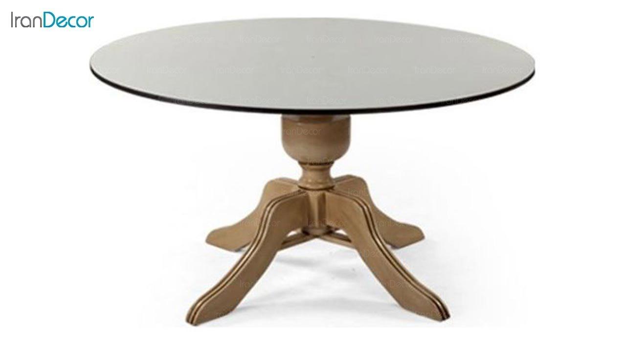 تصویر میز گرد پایه چوبی جهانتاب مدل تارانتو کد 4501