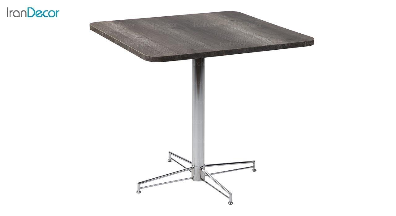تصویر میز مربع پایه فلزی جهانتاب مدل 1025 کد 4904