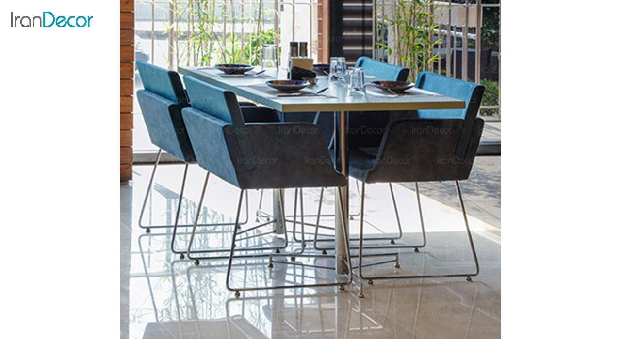 عکس میز مربع پایه فلزی جهانتاب مدل 1025 کد 4904