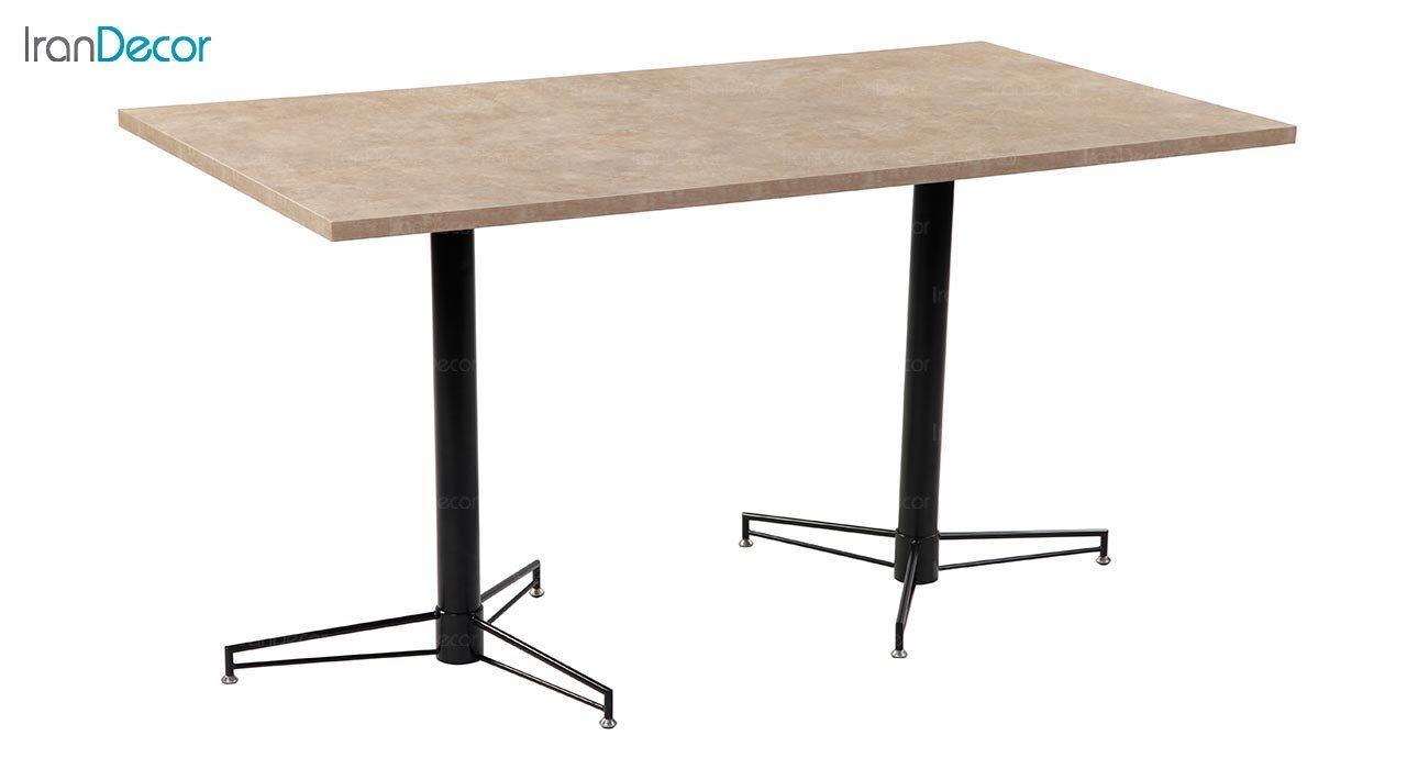 تصویر میز مستطیل پایه فلزی جهانتاب مدل 1033 کد 2022