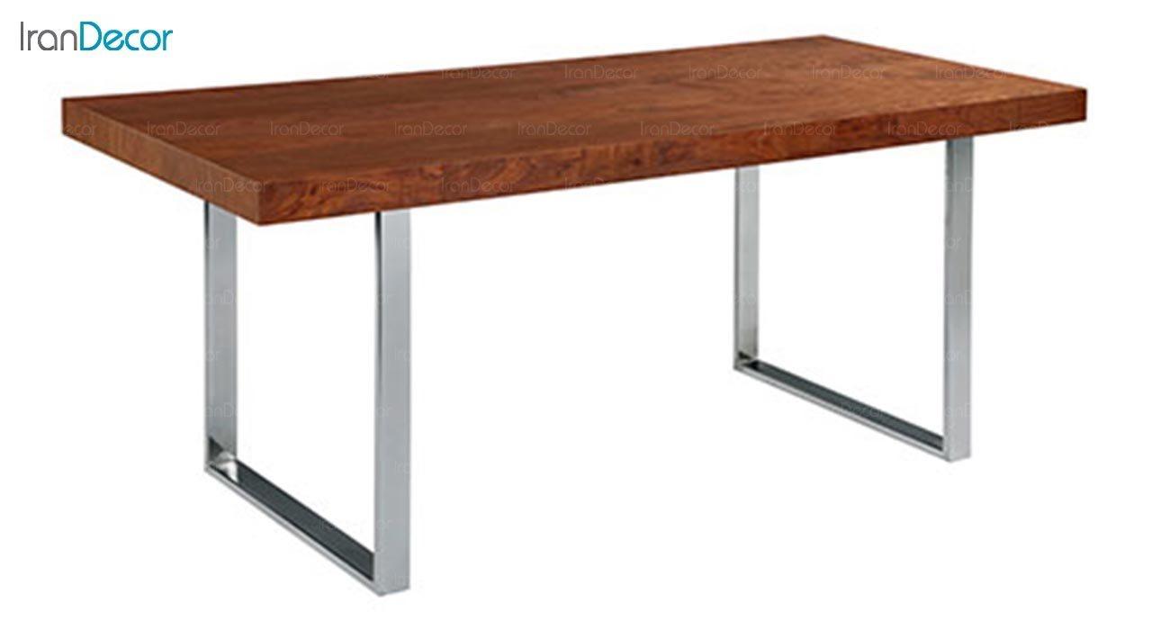 تصویر میز مستطیل پایه فلزی جهانتاب مدل تونا کد 2036