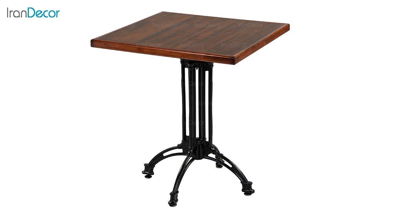 تصویر میز مربع پایه فلزی جهانتاب مدل 1021 کد 2021