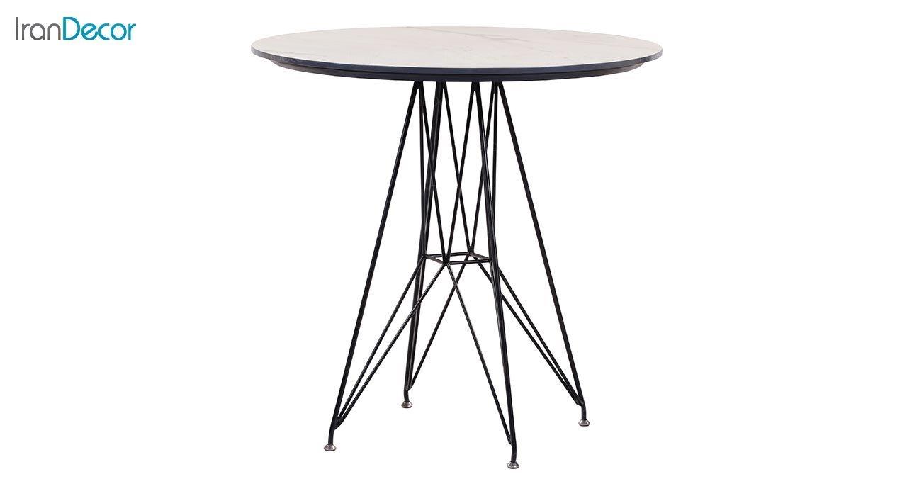 تصویر میز گرد پایه فلزی جهانتاب مدل الیو کد 1931