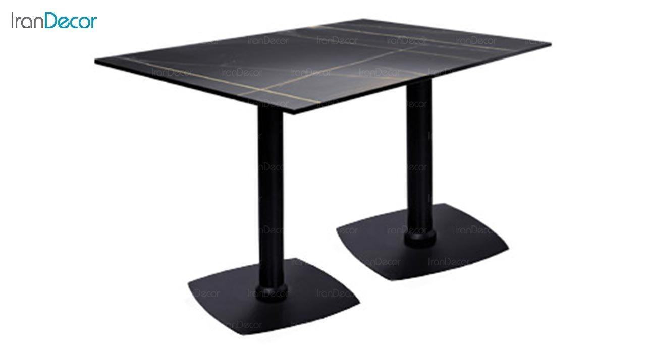 تصویر میز مستطیل پایه فلزی جهانتاب مدل کارینا کد 2025