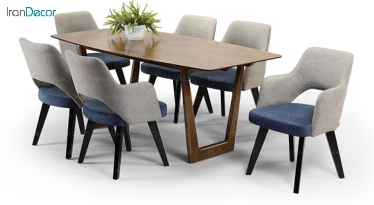 تصویر میز مستطیل چوبی جهانتاب مدل ژاکلین کد 4906