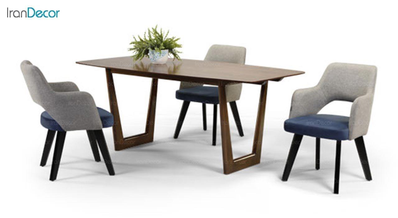 عکس میز مستطیل چوبی جهانتاب مدل ژاکلین کد 4906