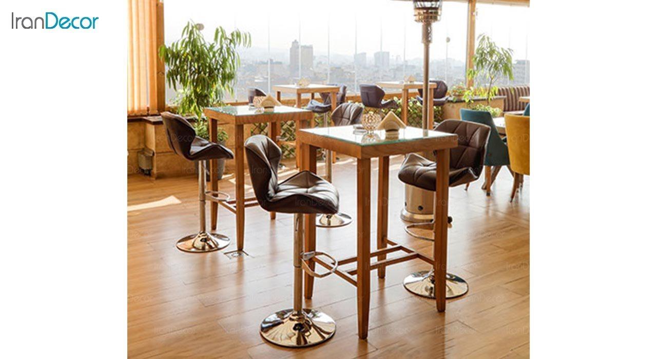 تصویر میز مربع چوبی جهانتاب مدل پاکو کد 4476