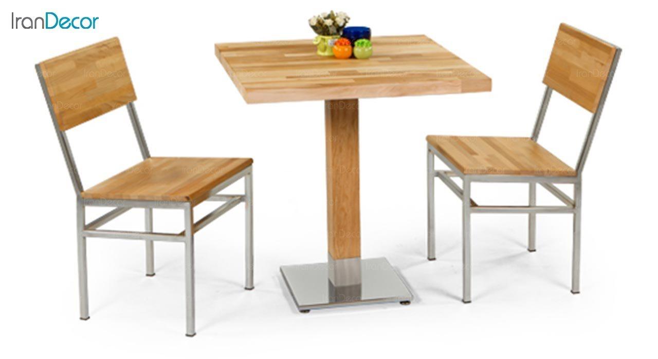 تصویر سرویس میز ناهار خوری جهانتاب مدل 1027S با صندلی مورین