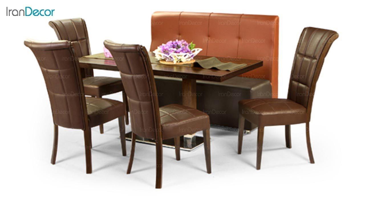 تصویر سرویس میز ناهار خوری جهانتاب مدل 1037S با صندلی راینو و کاناپه الیوت