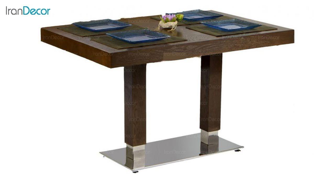 تصویر سرویس میز ناهار خوری جهانتاب مدل 1037S با صندلی راینو و نیمکت الیوت
