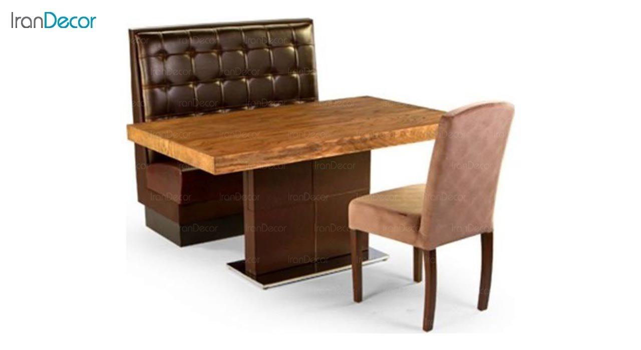 تصویر سرویس میز ناهار خوری جهانتاب مدل 1037W با صندلی ویکتوریا و کاناپه رستو CW