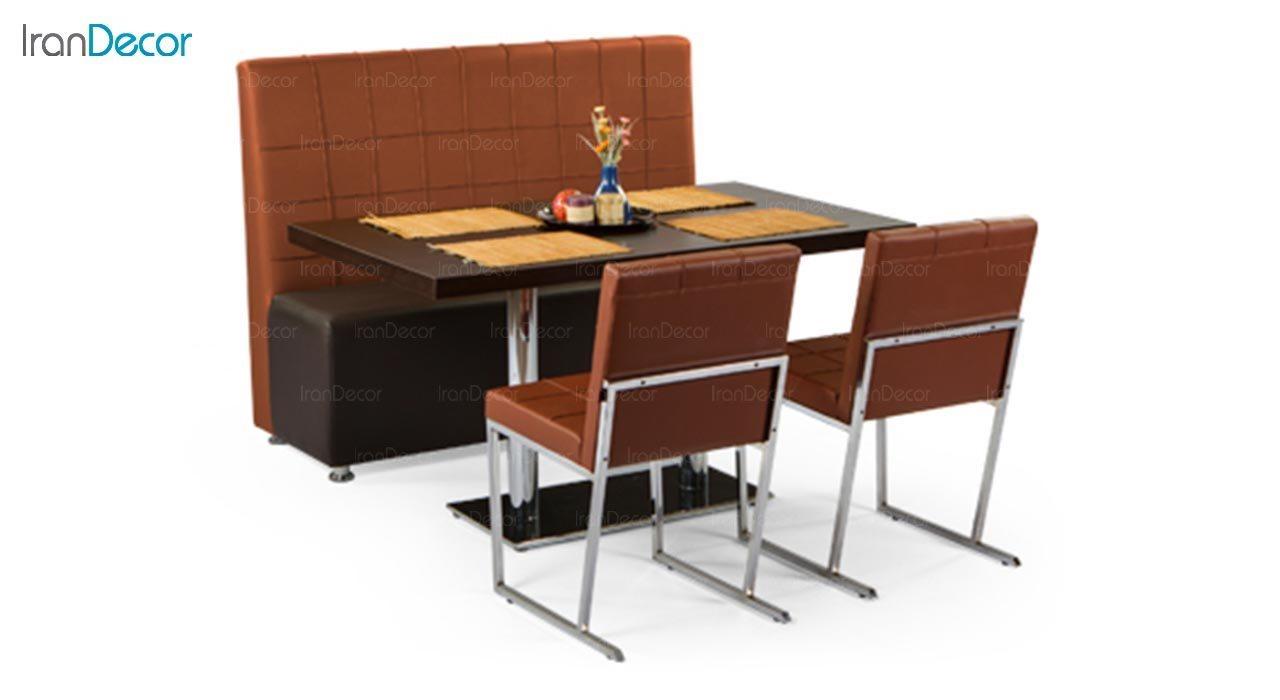 تصویر سرویس میز ناهار خوری جهانتاب مدل 1037 با صندلی ویونا و کاناپه برلینو