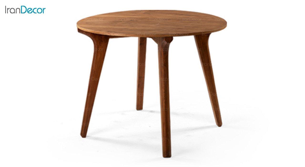 تصویر میز گرد چوبی جهانتاب مدل W84 کد 4391